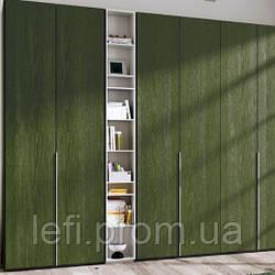 Шкафы с распашными фасадами МДФ шпонированный на фурнитуре Blum или Hettich