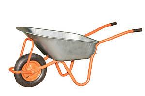 Тачка строительная Vitals, одноколесная, 75/150 л, оранжевая (V75-150)