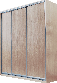 Шкаф-купе 2100*450, 3 двери (Алекса), фото 7