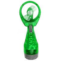 🔝 Вентилятор с распылителем воды, Water Spray Fan, на батарейках, цвет - зелёный | 🎁%🚚