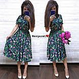 Женское платье-миди с цветочным принтом (в расцветках), фото 4