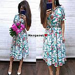 Женское платье-миди с цветочным принтом (в расцветках), фото 3