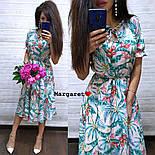 Женское платье-миди с цветочным принтом (в расцветках), фото 7