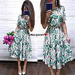 Женское платье-миди с цветочным принтом (в расцветках), фото 6