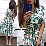 Женское платье-миди с цветочным принтом (в расцветках), фото 5