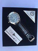 Часы зажигалка 2 в 1 ZHUOHENG черный ремешок с серебром