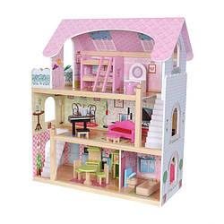 Кукольный домик EcoToys Miami 4110 + 15 аксессуаров (8069)
