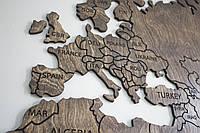 Карта з фанери на стіну, фото 1