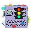 Музыкальный светящийся Бизиборд 25 см, разноцветный, фото 8
