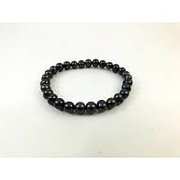 Браслет из Жемчуга 7-8 mm, Изысканный браслет из натурального камня, Красивый браслет, темные жемчужины