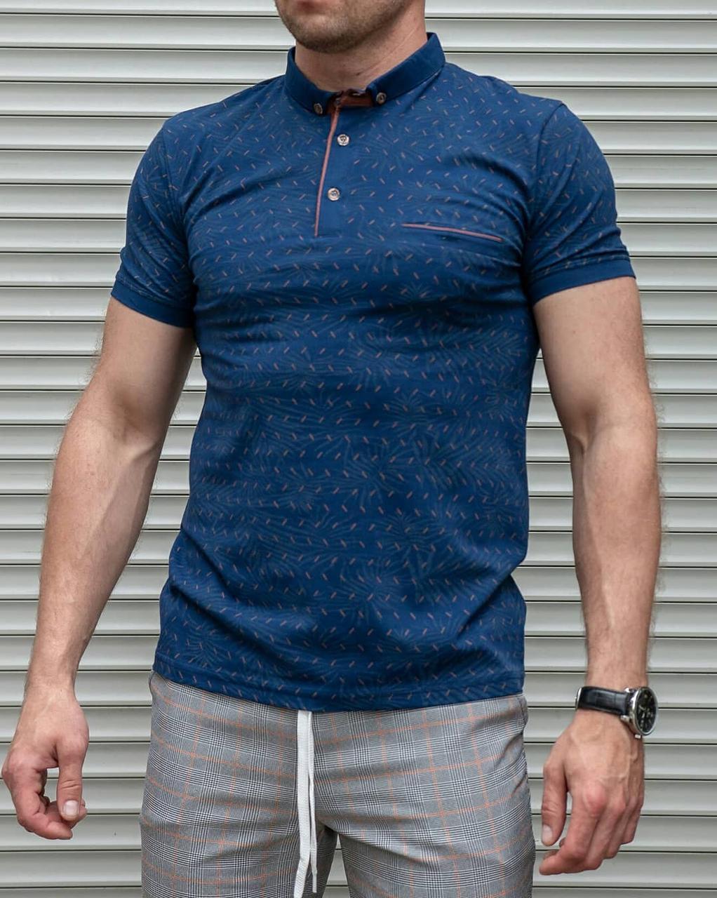 Мужская футболка поло короткий воротник