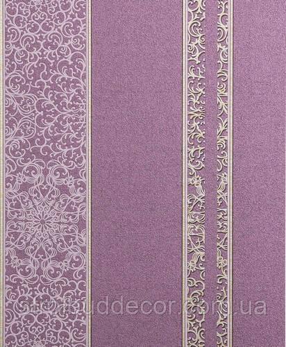 Обои Bravo  виниловые на бумажной основе 0,53 х 10м. сиреневые стена полоса