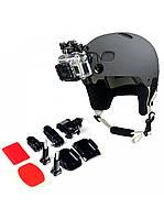 Крепление на шлем, комплект для GoPro 3 4 5 6 7 Xiаomi Yi 4K Sjcam