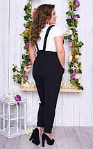 """Летний женский брючный костюм """"Ava"""" с футболкой (большие размеры), фото 3"""