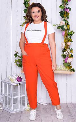 """Летний женский брючный костюм """"Ava"""" с футболкой (большие размеры), фото 2"""