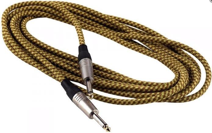 Инструментальный кабель 3 метра ROCKCABLE RCL30203 TC D/Gold Instrument Cable - Vintage Tweed (3m)