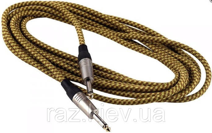 Инструментальный кабель 3 метра ROCKCABLE RCL30203 TC D/Gold Instrument Cable - Vintage Tweed (3m), фото 2