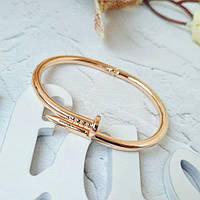 Женский браслет гвоздь розовое золото, Жіночий браслет гвіздок, Браслетик в форме гвоздя