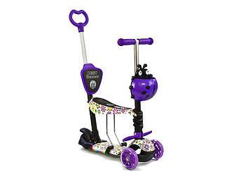 Самокат 5 в 1 Best Scooter 67050 Black/Abstraction (67050) фиолетовый