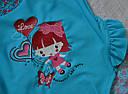 """Детский цельный купальник для девочки """"Scarlet"""" голубой (р.104, 110, 116 см) (KEYZI, Польша), фото 3"""