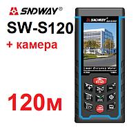 Лазерный дальномер/лазерная рулетка Sndway SW-S120 с КАМЕРОЙ