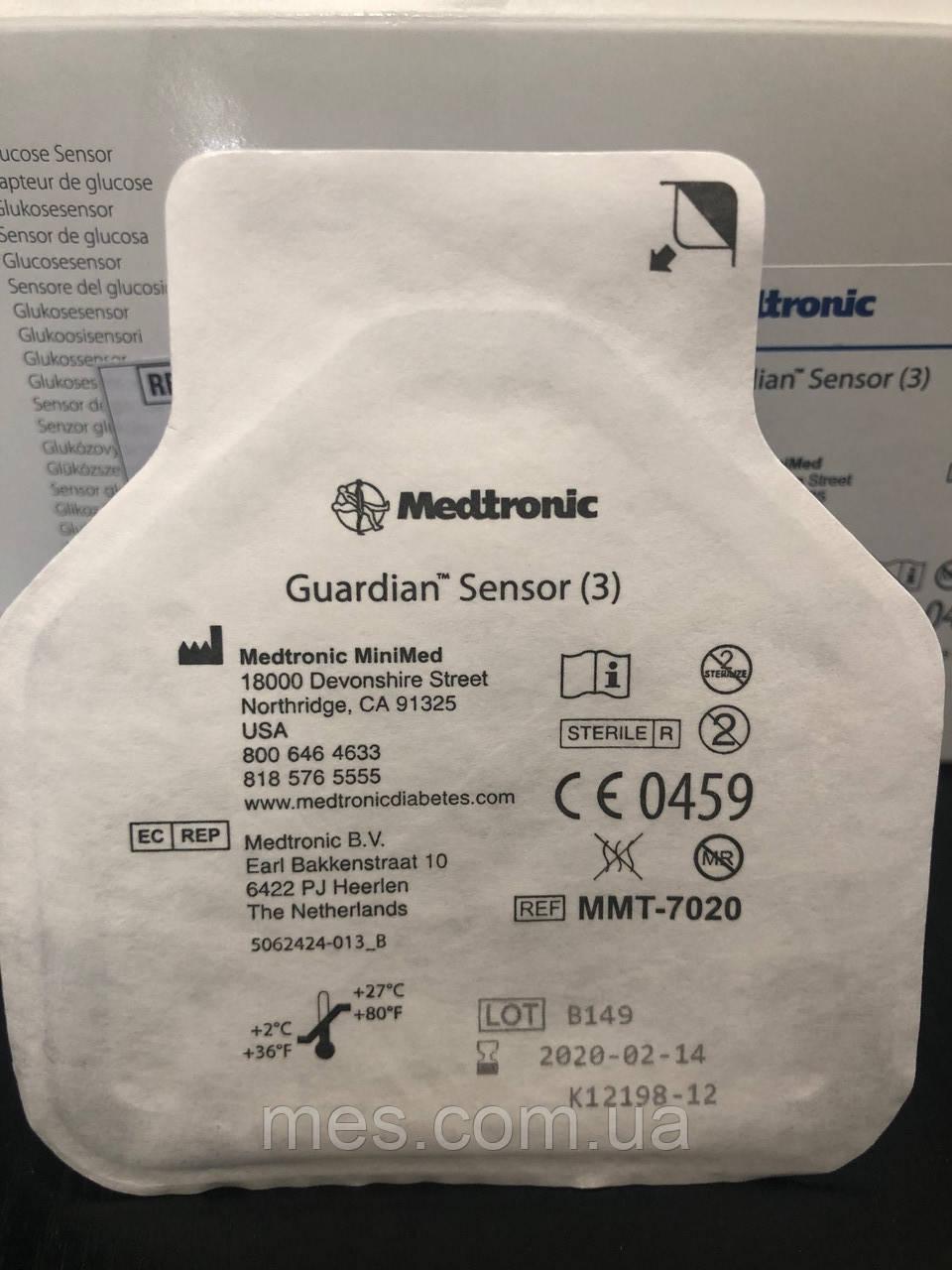 Глюкозний сенсор Гардіан 3 (Gardian Sensor (3)), термін до 2020-02-14