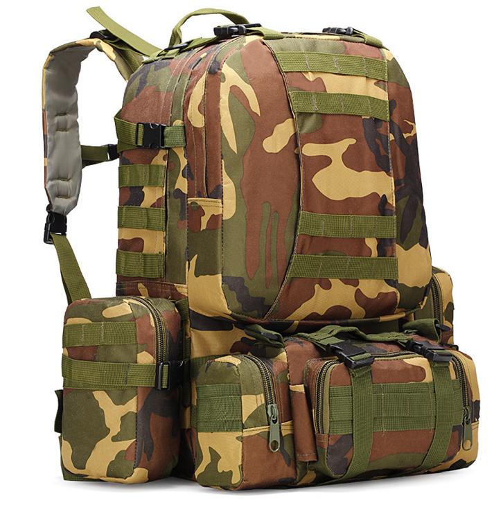 Тактический Штурмовой Военный Рюкзак с подсумками на 50-60литров Вудленд TacticBag