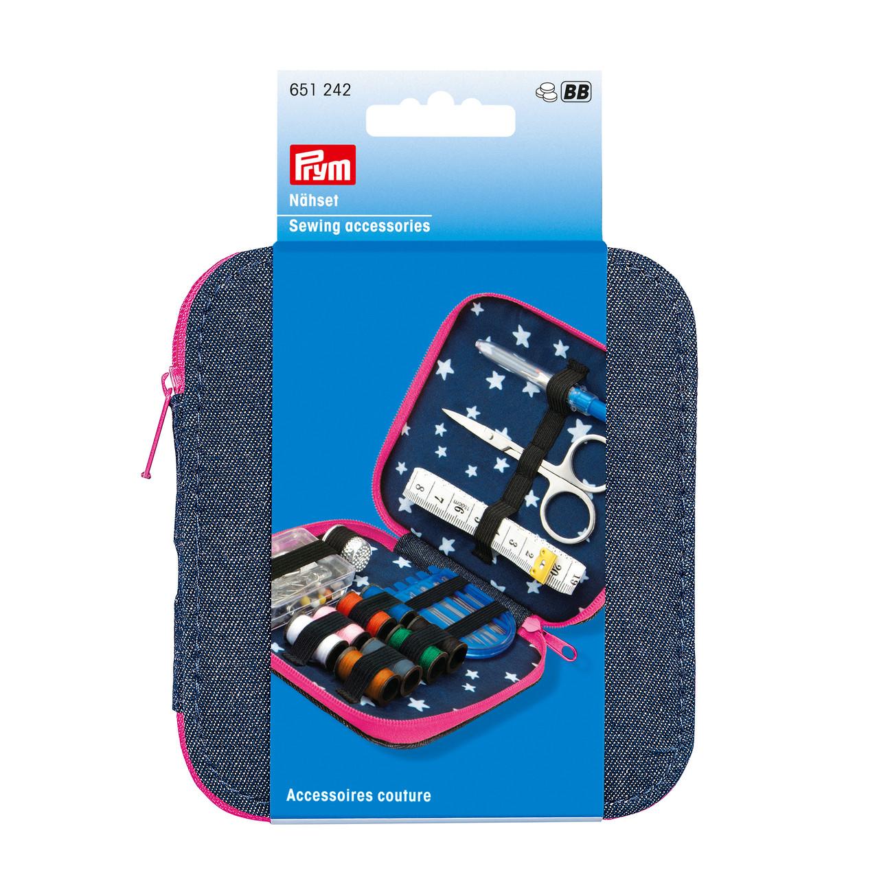 Швейный набор джинс с розовой замком - молнией Prym 651242