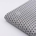 """Ткань хлопковая """"Маленький геометрический цветок"""" чёрный на белом № 2191а, фото 3"""