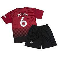 Футбольная форма для детей и подростков ФК Манчестер Юнайтед сезон 2018-2019г