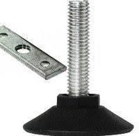Ножка мебельная регулируемая d=10 мм с планкой