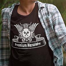 Чоловіча футболка з принтом. Premium Heraldry. Бавовна 100%. 6 кольорів. Розміри від XS до 3XL