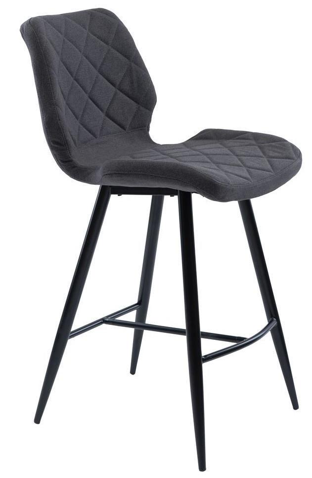 Полубарный стул Diamond серый графит TM Concepto