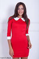 Трендовое приталенное платье с воротником и манжетами Sanguin
