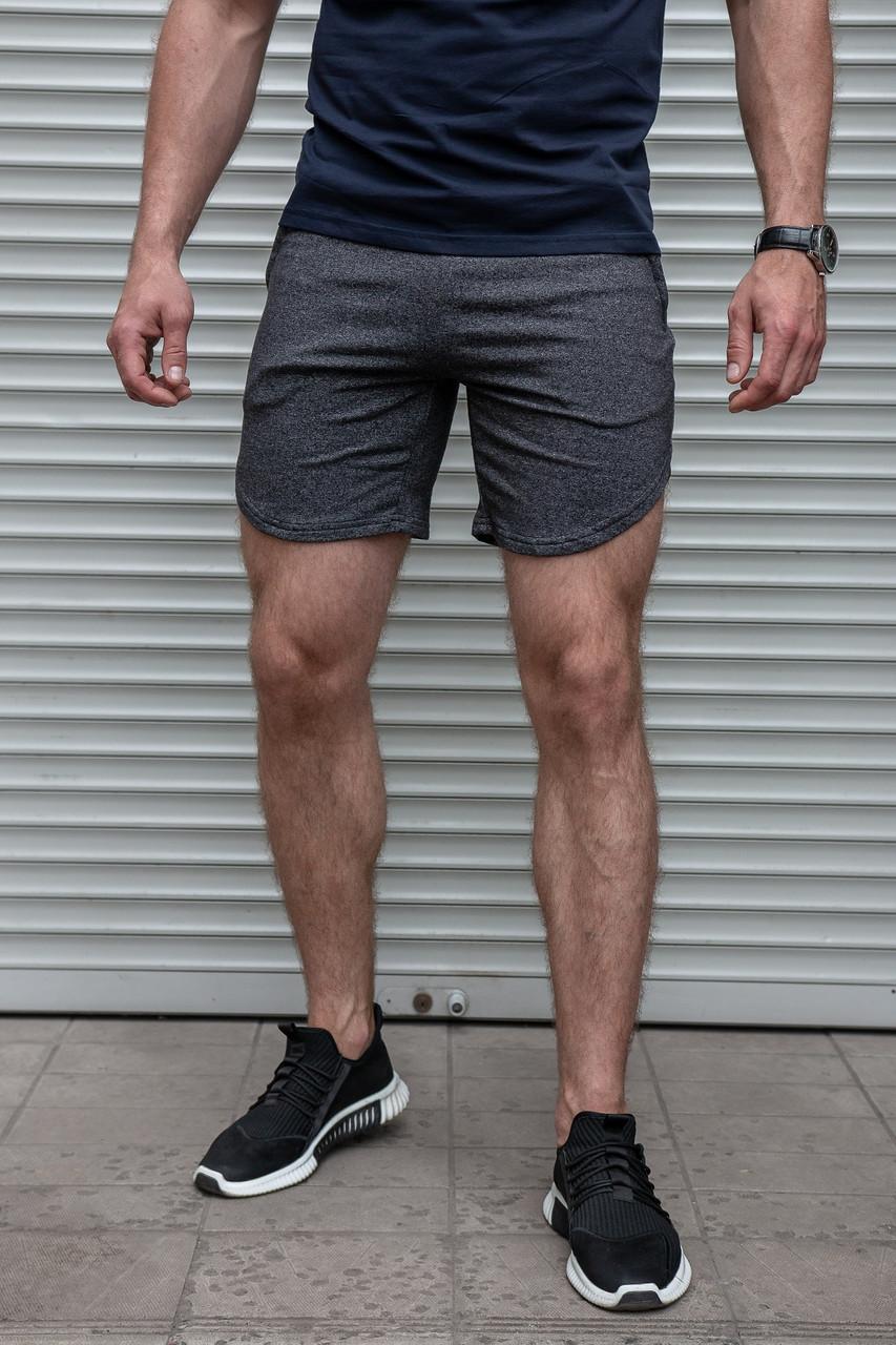 Мужские спортивные трикотажные шорты серые