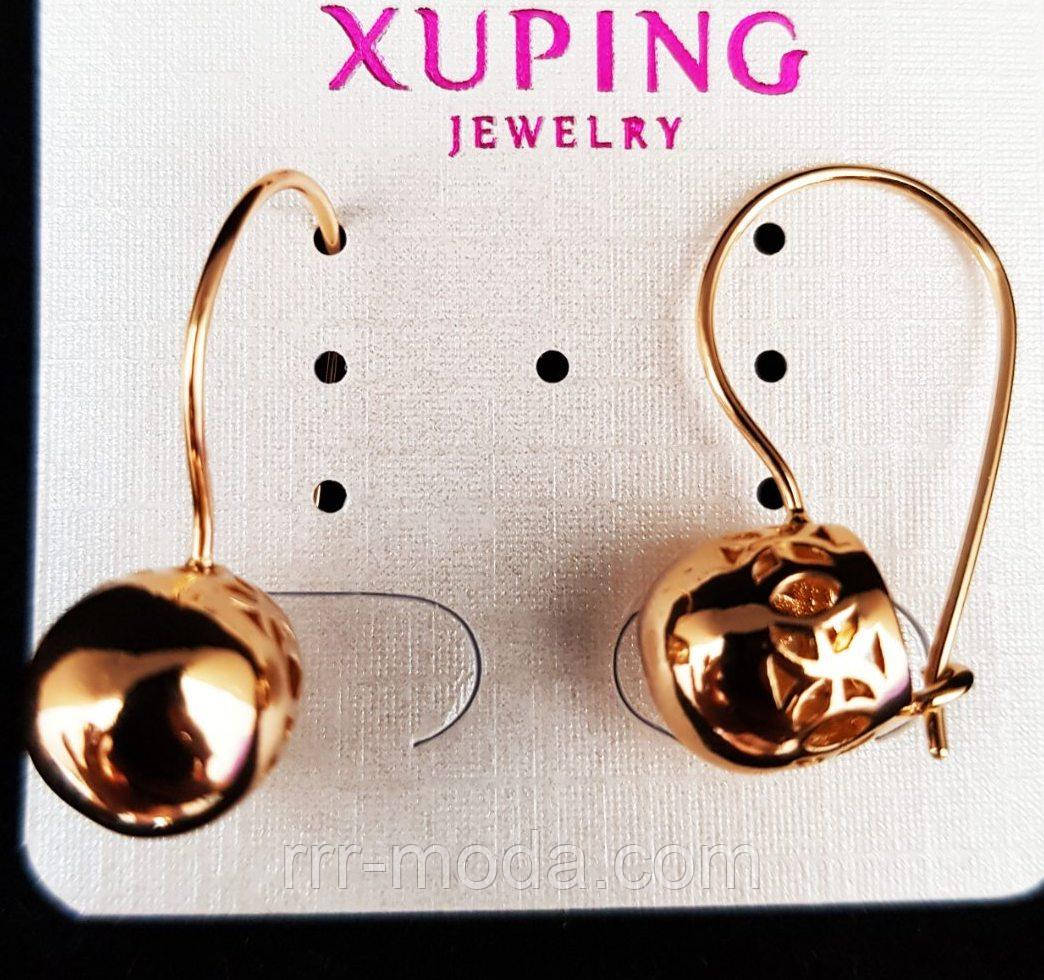 616. Бижутерию Xuping из Китая - Серёжки под серебро оптом. Золотистый