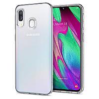 Чехол Spigen для Samsung Galaxy A40 Liquid Crystal, Crystal Clear (618CS26245)