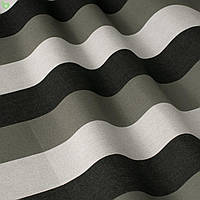 Уличная декоративная ткань полоса серая черная и белая 84328v5