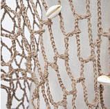 Пляжная коричневая накидка с ракушками - размер универсальный (160*60см), 100% акрил, фото 5
