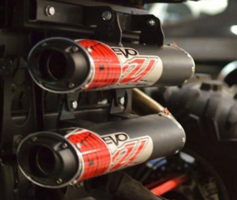 Глушитель (раздвоенный) Big Gun Evo для Polaris RZR XP 1000 TURBO