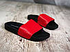 Женские красные шлепанцы на черной подошве, натур.кожа, фото 2