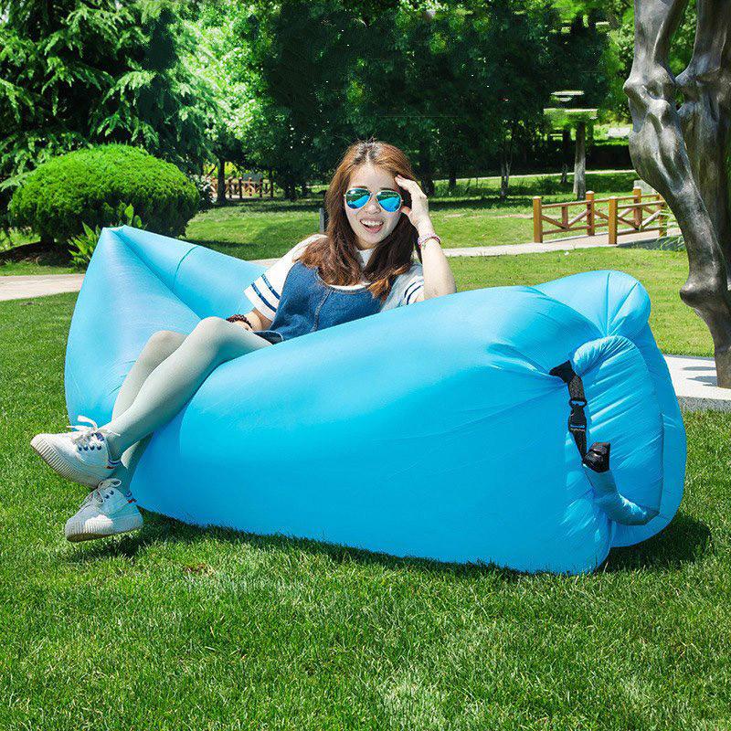 Надувной диван шезлонг гамак мешок Ламзак Lamzac, AIR sofa, (Синий) длина 2 метра! (Биван)