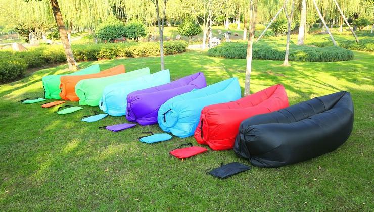 Надувной диван шезлонг гамак мешок Ламзак Lamzac, AIR sofa, (Красный) длина 2 метра! (Биван)