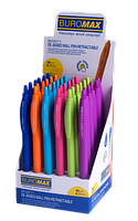 Ручка кулькова Buromax Holly Touch, автоматична, 0.7мм, масляні чорнила, синя (BM.8271)