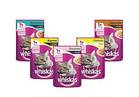 Whiskas пауч с курицей в соусе (для взрослых кошек 1+) 100 г х 24 шт в упаковке. В наличии 12 видов