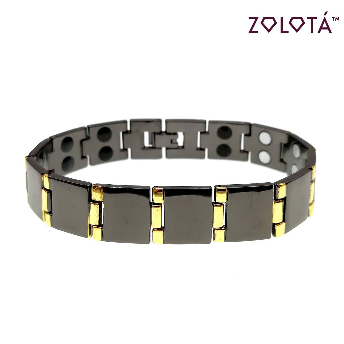 Магнитный браслет с германием и вставками позолоты, длина 21 см, БР00052 (21 см)
