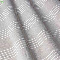 Тюль с тонкими полосами графитового серого цвета Испания 83285v1