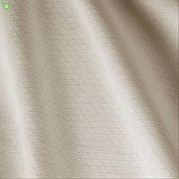 Однотонная скатертная ткань в мелкий ромбик бежевого цвета Италия 83265v4