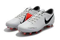 Футбольные бутсы Nike Phantom Vision Academy FG Pure Platinum/Black/Light Crimson/Dark Grey, фото 1
