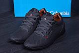 Мужские кожаные летние кроссовки, перфорация  Коламбия  SB black (реплика), фото 9